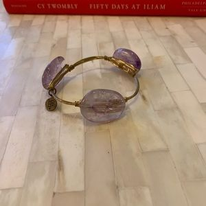 Gold and Purple Crystal Bangle